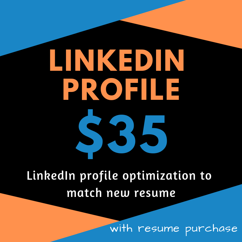 linkedin profile update  w   other resume purchase
